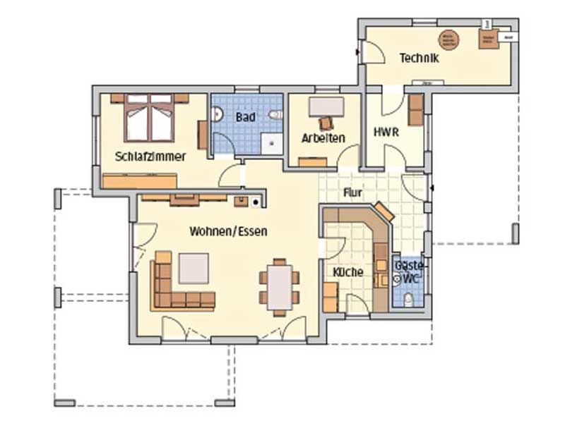 Grundriss Entwurf Nivelo von Fingerhut Haus