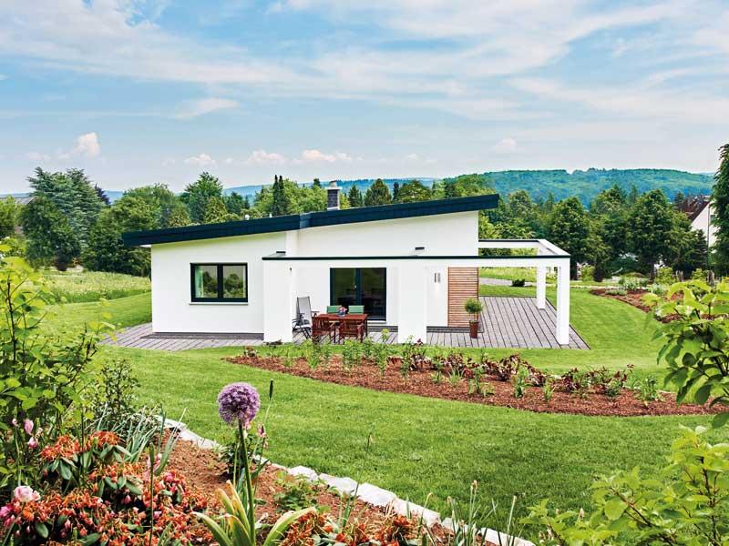 Entwurf Nivelo von Fingerhut Haus Terrassenansicht