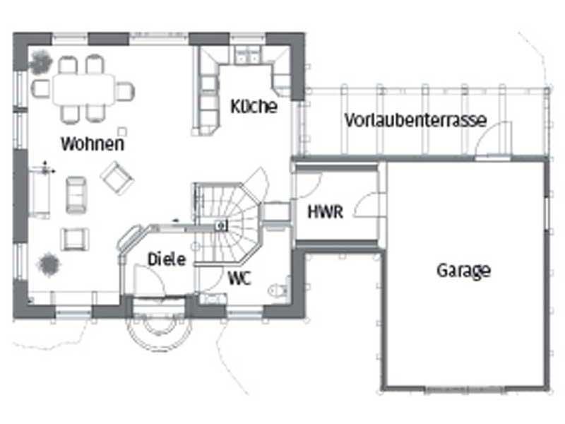 Grundriss Erdgeschoss Haus Paula von Christianus