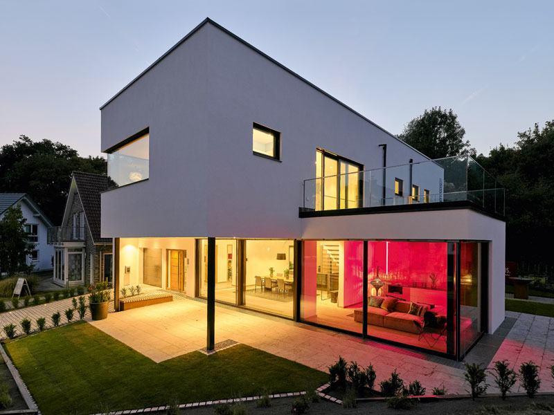 Modell Core von Luxhaus aussen Terrasse