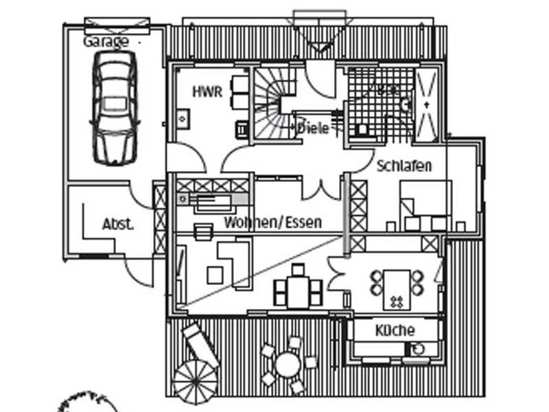 Grundriss Erdgeschoss Haus Zaubernuss von Stommel Haus