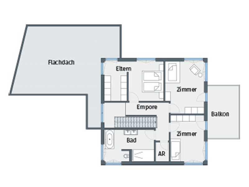 Grundriss Obergeschoss Entwurf Citylife 400 von WeberHaus