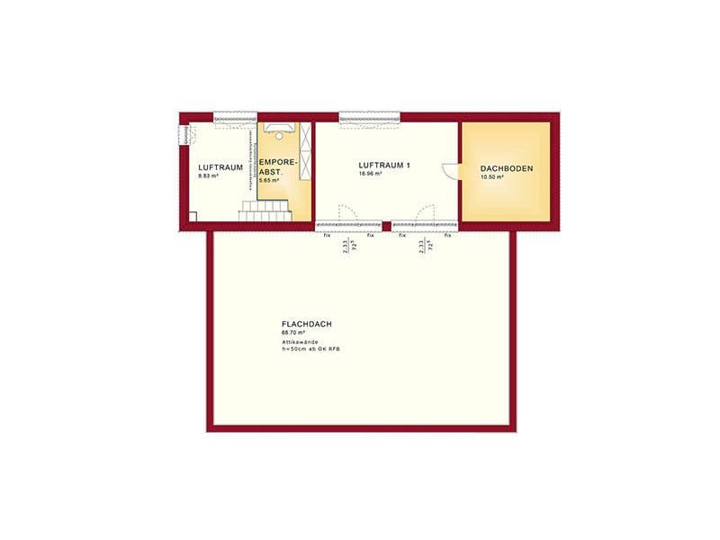 Grundriss Dachgeschoss Entwurf Concept-M 198 von Bien-Zenker