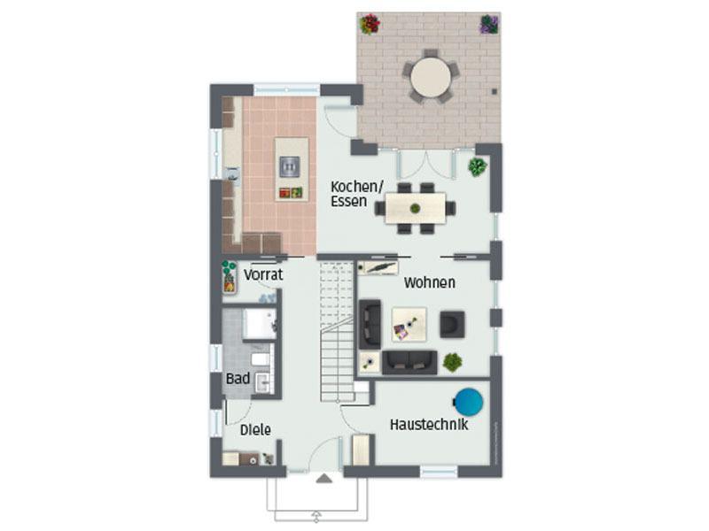 Grundriss Erdgeschoss Haus Boavista von Gussek