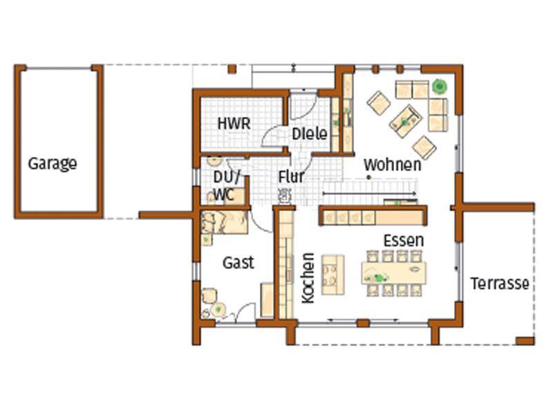 Grundriss Erdgeschoss Entwurf Victoria von Rensch