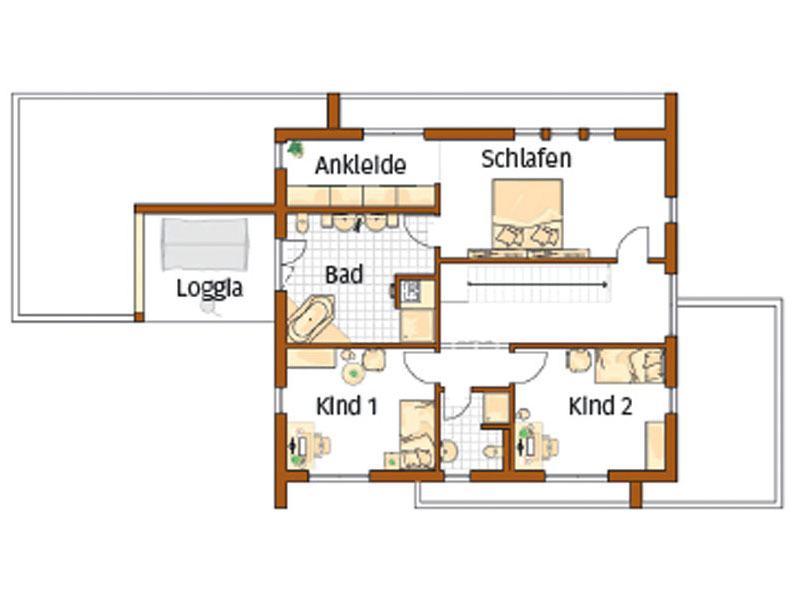Grundriss Obergeschoss Entwurf Victoria von Rensch