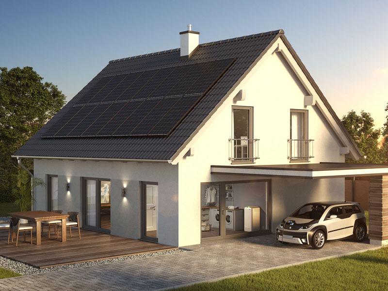 Senec Haus mit Anlage für Solarstrom