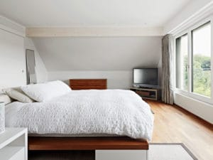 Einblick in eines der vier Schlafzimmer