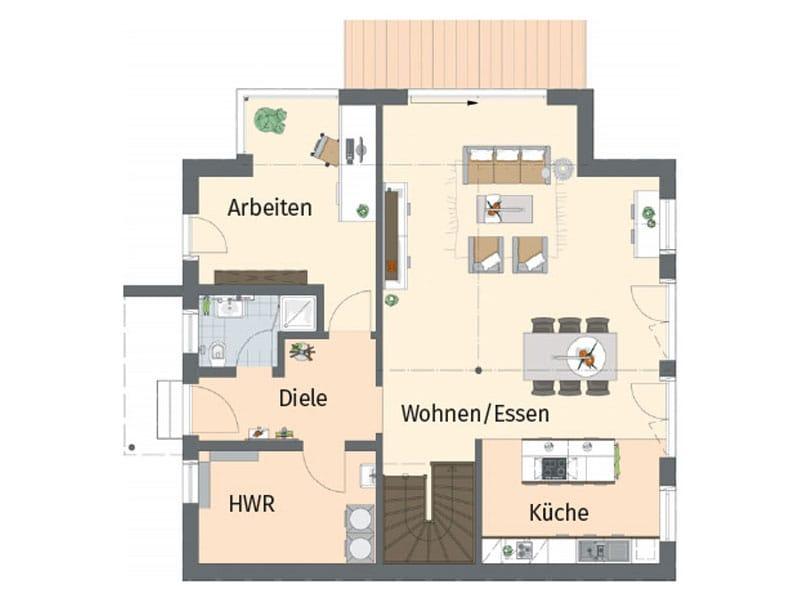 Grundriss Erdgeschoss Entwurf Medley Kassel von Fingerhaus
