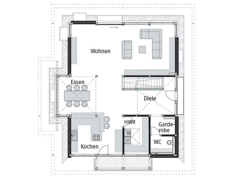 Grundriss Erdgeschoss Huf Modum 8_10