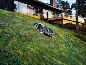 Smart Garden Mähroboter auf Hanggrundstück
