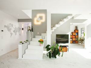 Treppe zum Obergeschoss im Haus Ashford von Bien Zenker