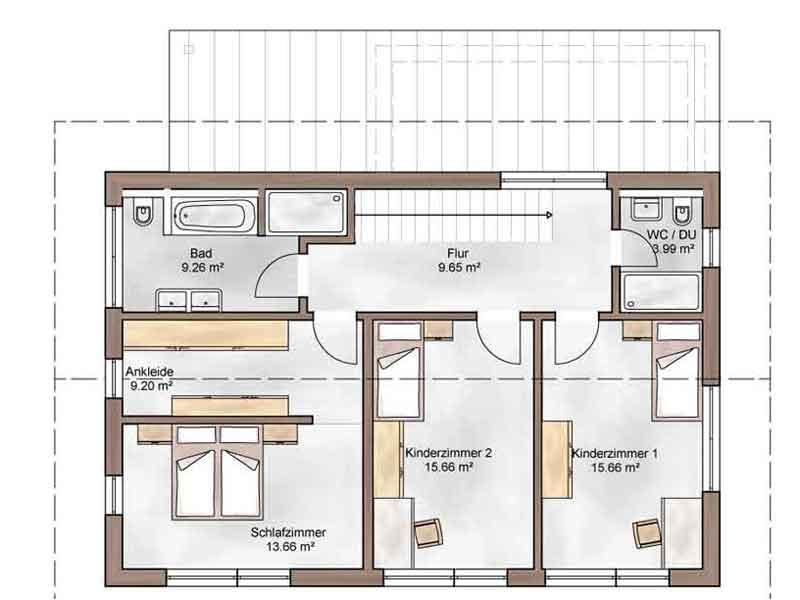Grundriss Dachgeschoss Casa Vita XL Sonnleitner