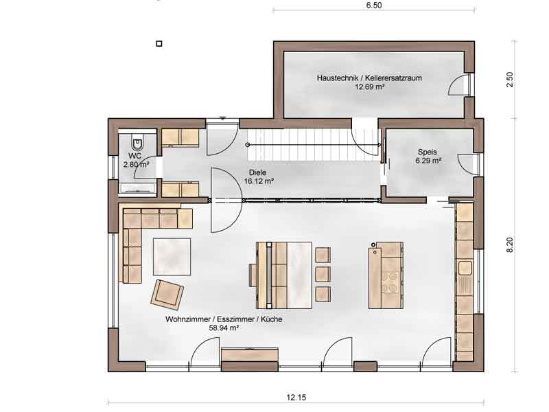 Grundriss Erdgeschoss Casa Vita XL Sonnleitner