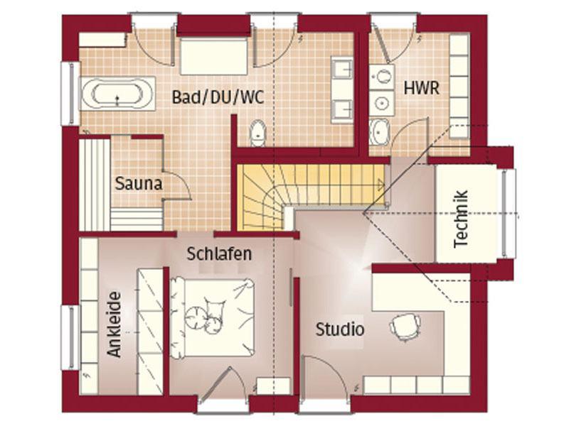 Grundriss Obergeschoss Haus Ashford von Bien-Zenker