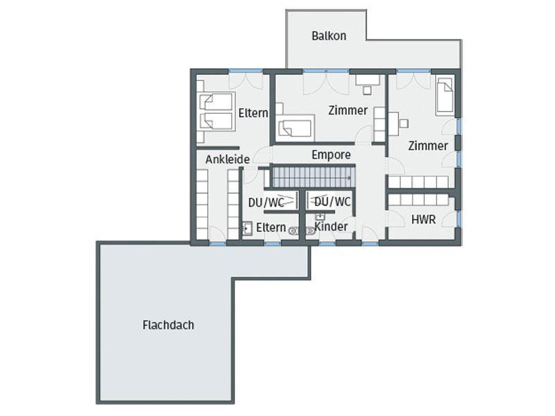 Grundriss Obergeschoss Zarmutek Weberhaus