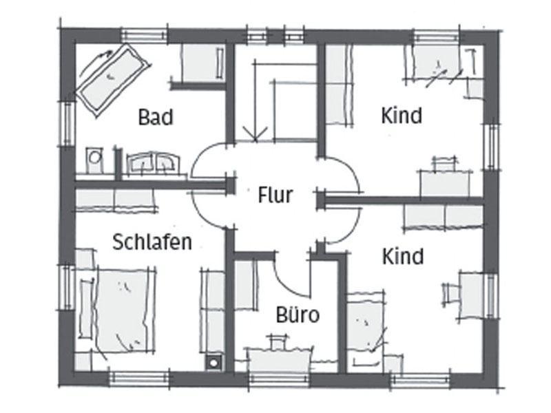 Grundriss Erdgeschoss Ortenburg Wolfsystem