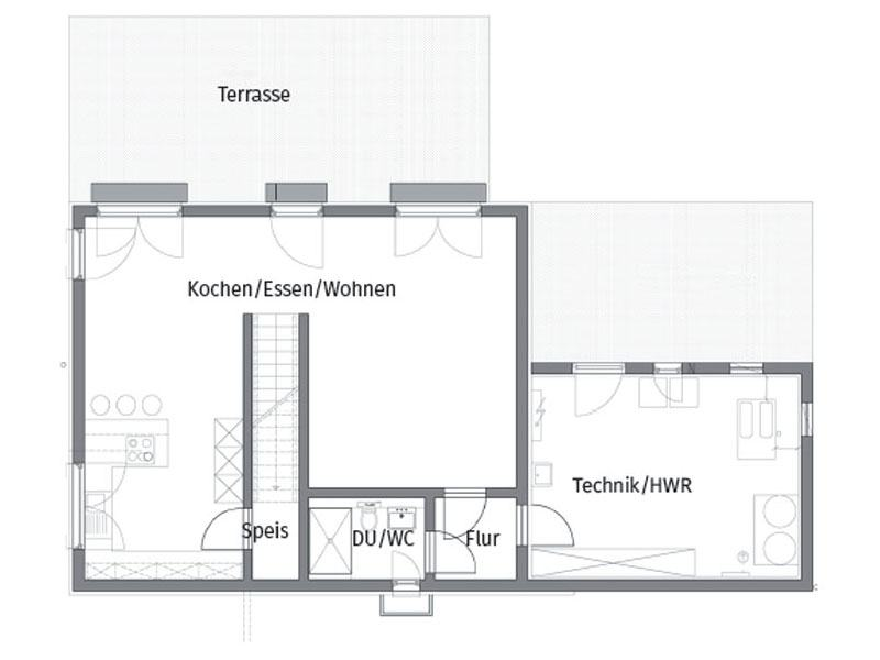Grundriss Untergeschoss Schneider Boehm von Fertighaus Weiss