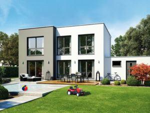 Rendering Haus und Garten