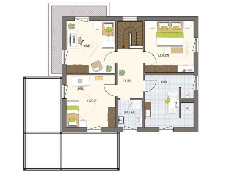 Grundriss Obergeschoss Medley 3 Frankenberg von Fingerhaus