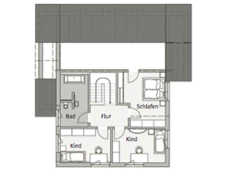 Grundriss Obergeschoss Modern 190 Fischerhaus
