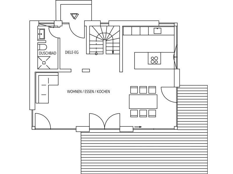 Grundriss Erdgeschoss Entwurf Gauting von Regnauer