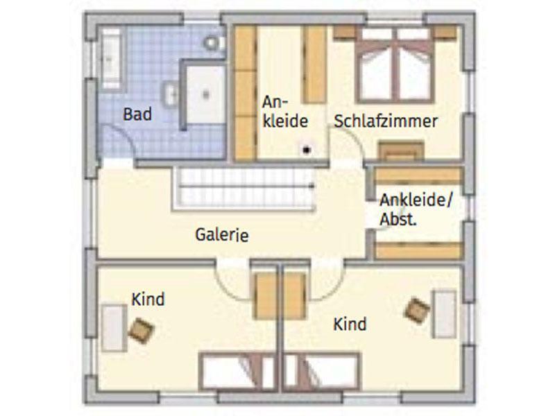 Grundriss Obergeschoss Entwurf Tero von Fingerhut