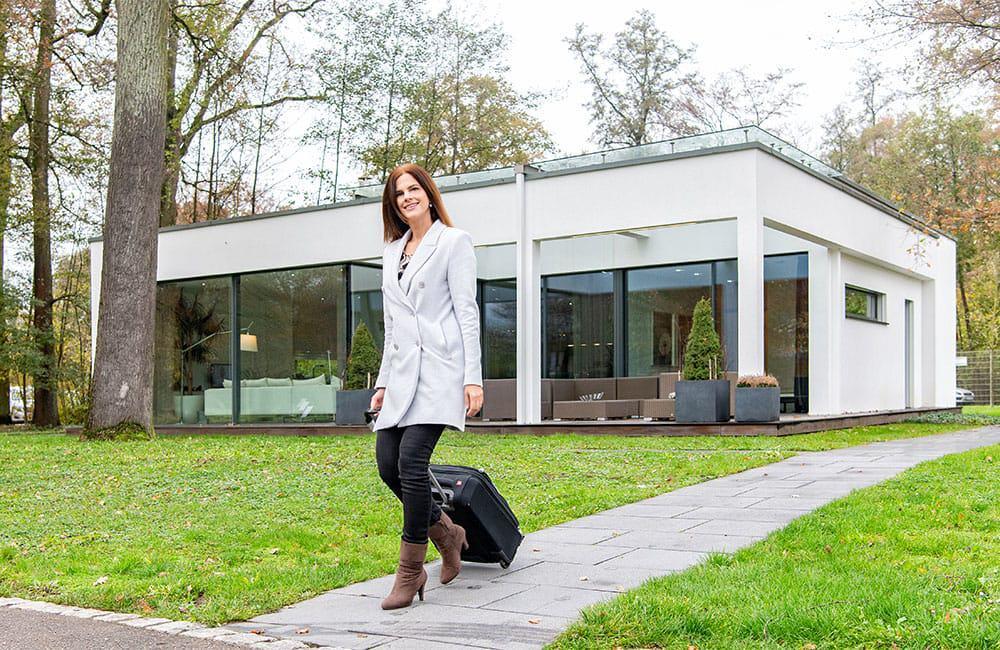 Luxus pur: der Bungalow Linx von WeberHaus. Ein Musterhaus, das am Firmensitz des Unternehmens – in der World of Living – besichtigt werden kann.