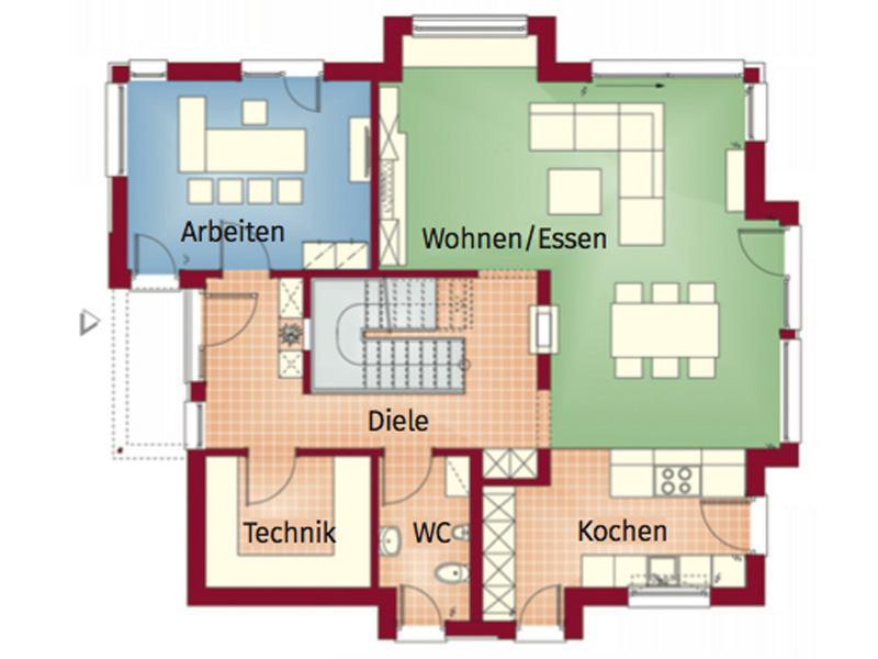 Grundriss Erdgeschoss Concept-M 163 Dresden von Bien-Zenker