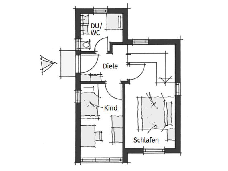 Grundriss Erdgeschoss Cubushome von Wolfsystem