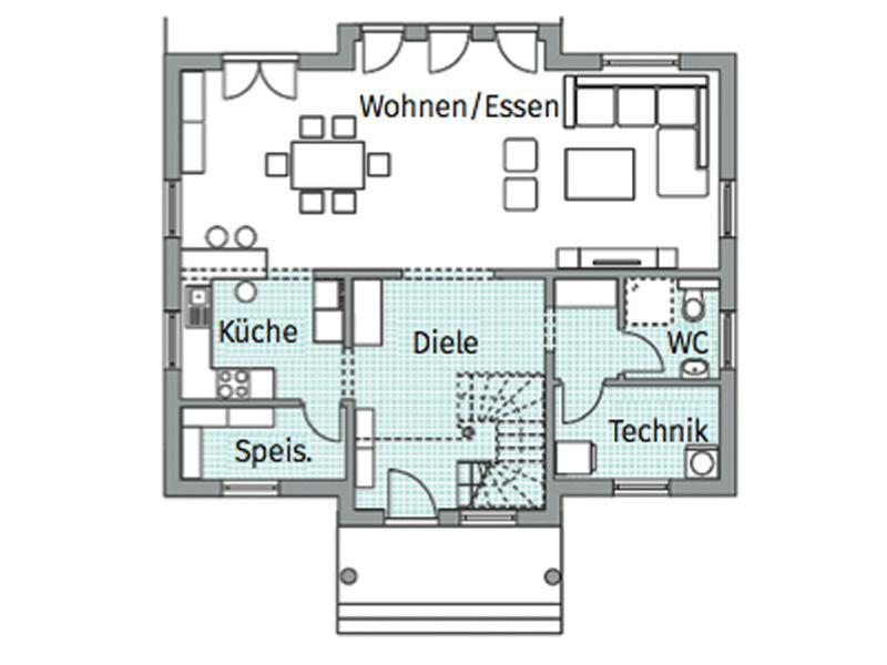 Grundriss Erdgeschoss Entwurf Park 164 von Danwood
