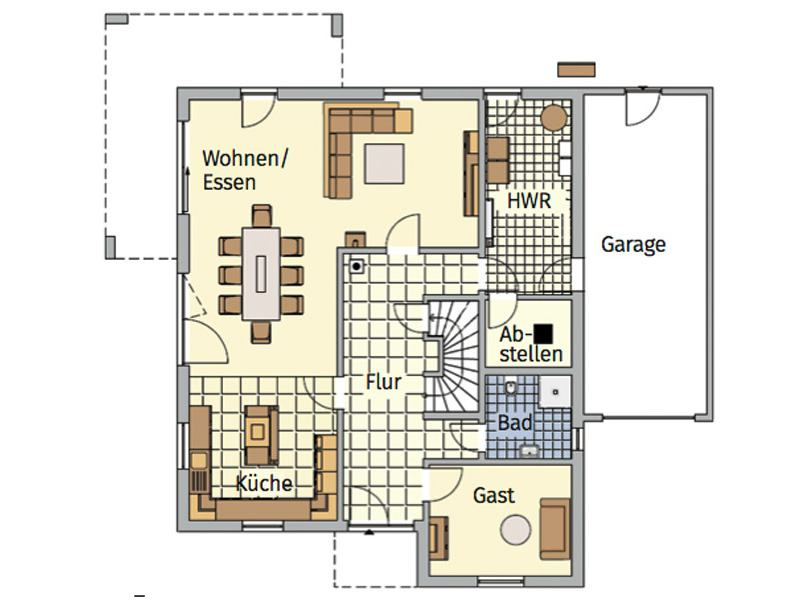 Grundriss Erdgeschoss Entwurf Lageto von Fingerhut Haus