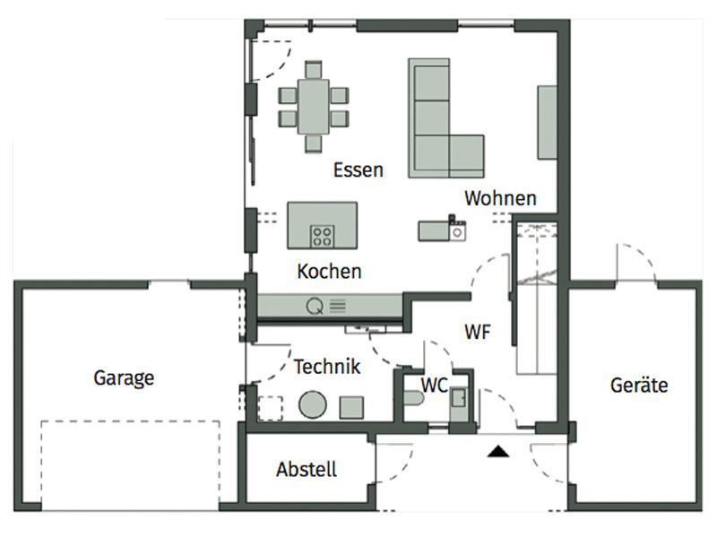 Grundriss Erdgeschoss Kundenhaus Böger von Schwörerhaus