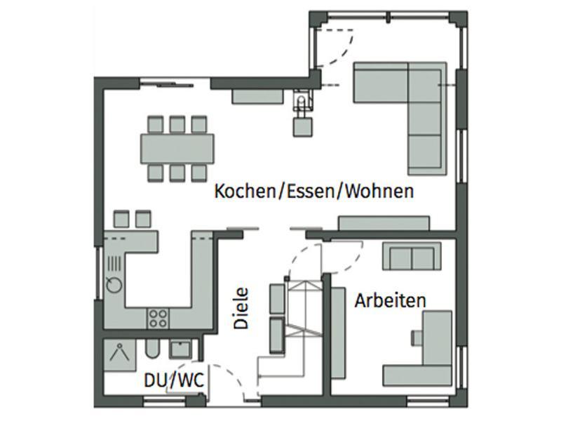 Grundriss Erdgeschoss Kundenhaus Ziegler von Schwörerhaus