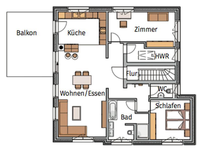 Grundriss Obergeschoss Musterhaus Silkeborg von Danhaus