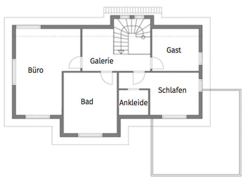 Grundriss Obergeschoss Entwurf Erlach von Rems-Murr