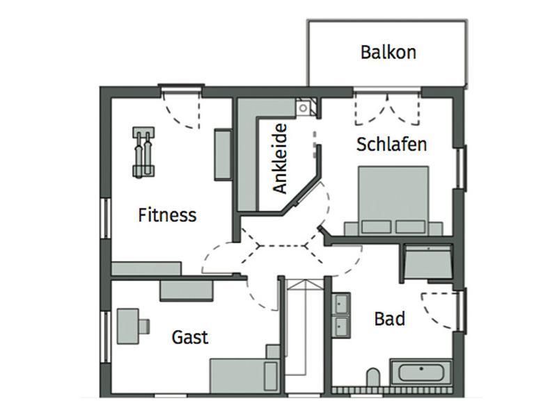 Grundriss Obergeschoss Kundenhaus Ziegler von Schwörerhaus