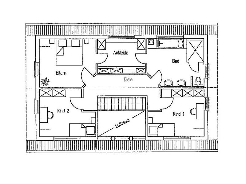 Grundriss Dachgeschoss Entwurf Turo von Fingerhuthaus