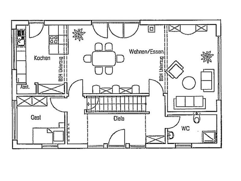 Grundriss Erdgeschoss Entwurf Turo von Fingerhuthaus