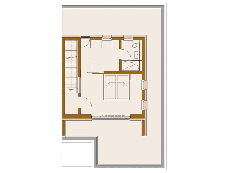 Rötzer-Ziegel-Element-Haus: Avantgarde 190. Grundriss Dachgeschoss