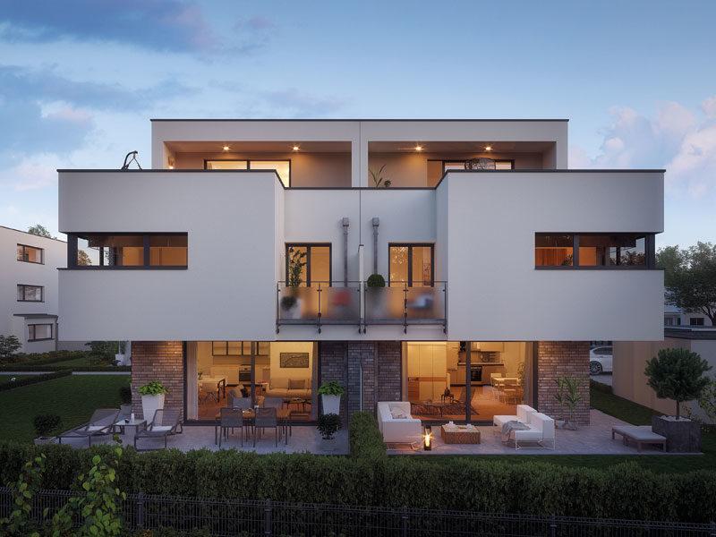 Rötzer-Ziegel-Element-Haus: Avantgarde 190. Außenansicht