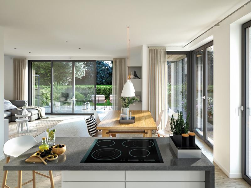 Rötzer-Ziegel-Element-Haus: Avantgarde 190. Küche