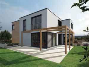 Entwurf Bela von Fingerhuthaus aussen Terrasse