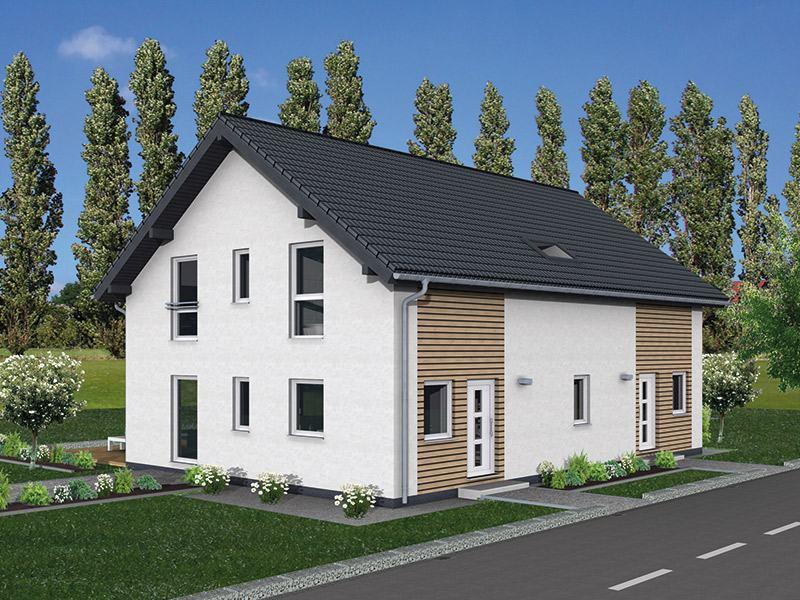 Entwurf Junto 211 von Fingerhut Haus Strassenseite
