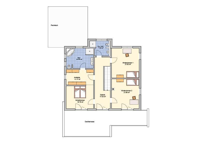 Grundriss Obergeschoss Entwurf Matene von Fingerhut Haus