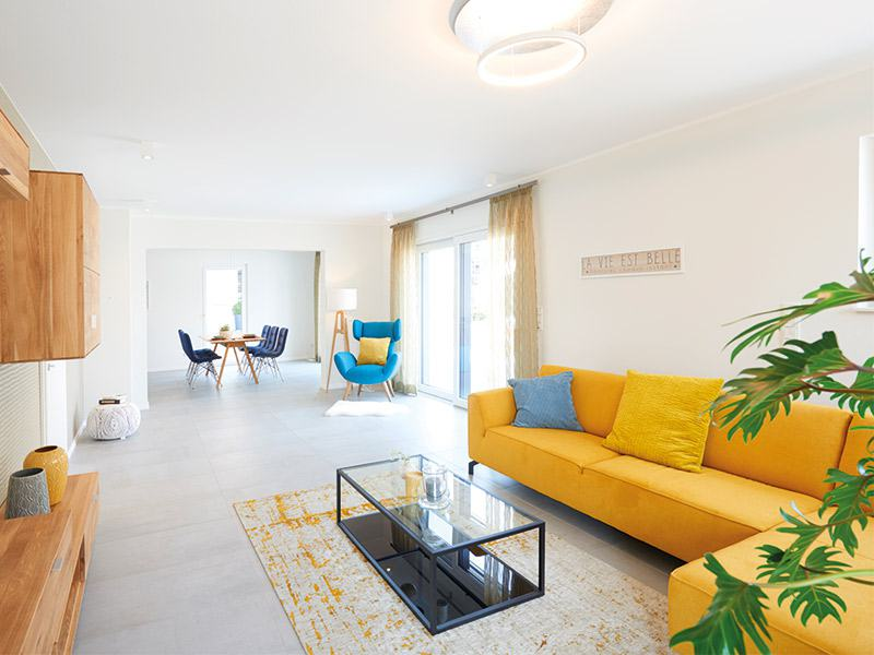 Musterhaus Stuttgart von Fingerhut Haus Wohnzimmer