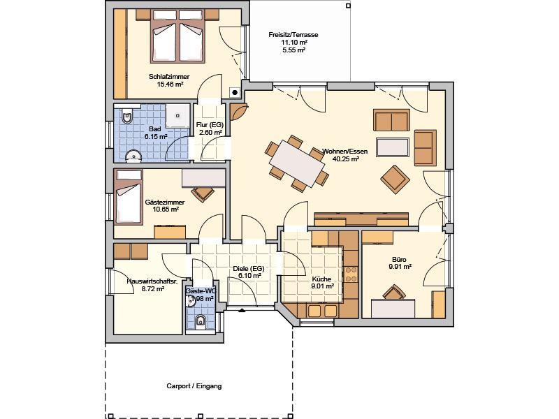 Grundriss Entwurf Suno von Fingerhut Haus