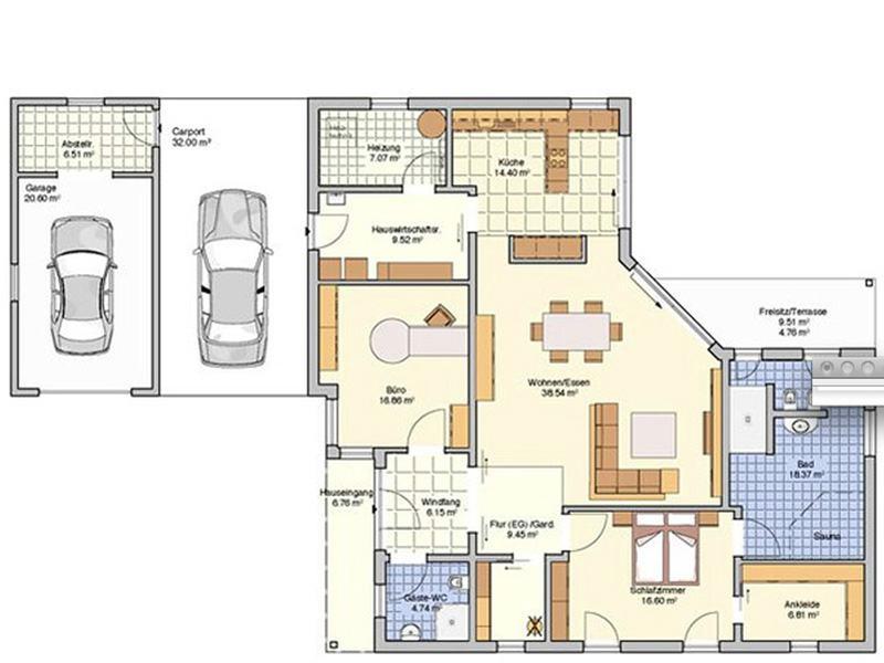 Grundriss Entwurf Cilia von Fingerhuthaus