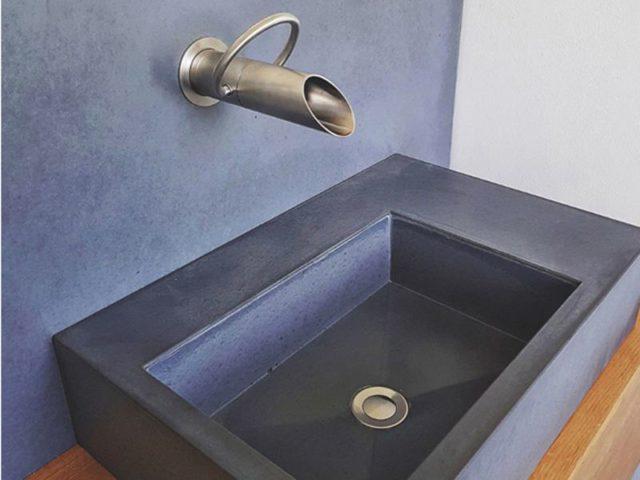 Design Waschbecken aus Beton, B-und-K-Design