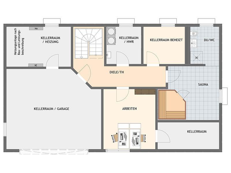 Grundriss Kellergeschoss arbeiten-wohnen-frei-geplantes-kundenhaus-von-fingerhaus